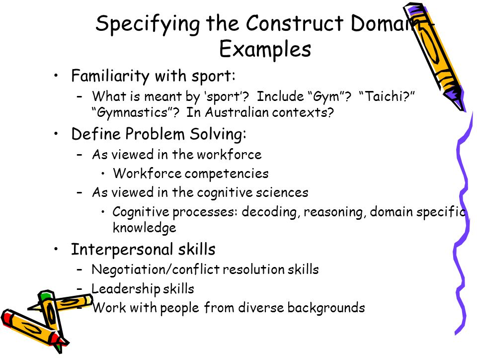 Specifying the Construct Domain - Examples