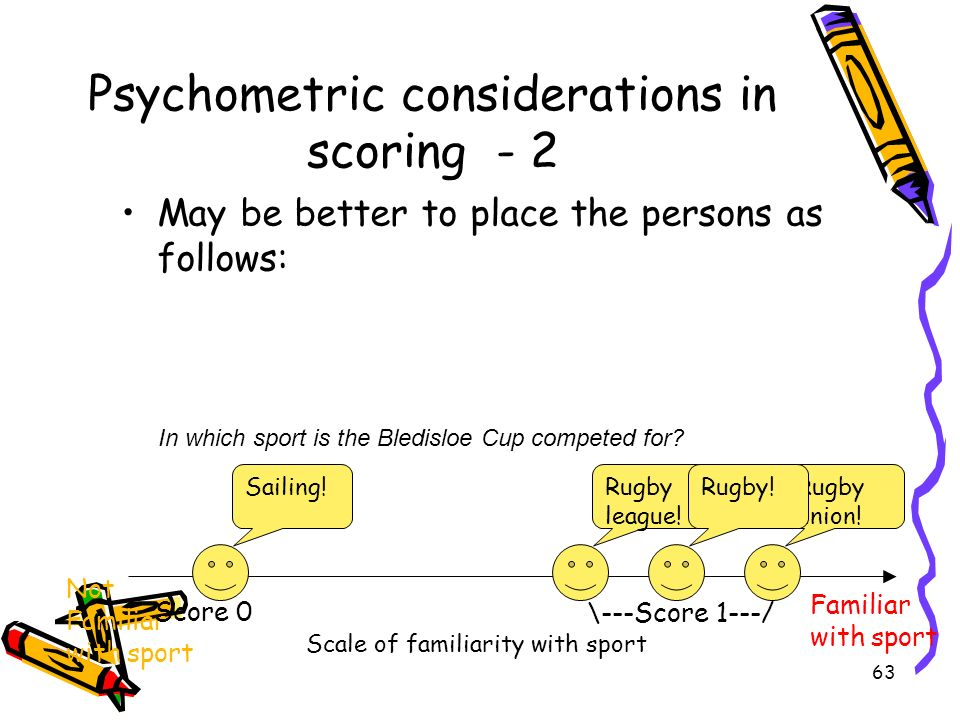 Psychometric considerations in scoring - 2