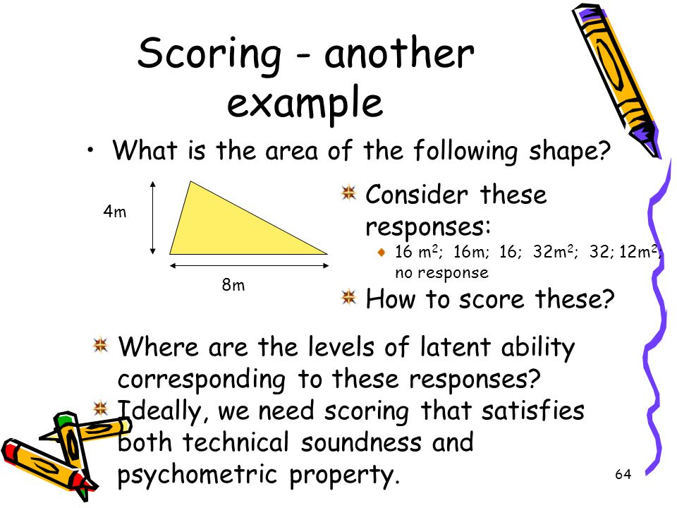 Scoring - another example