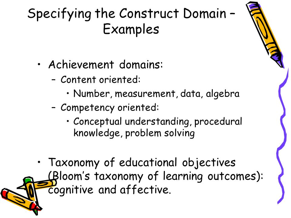 Specifying the Construct Domain – Examples