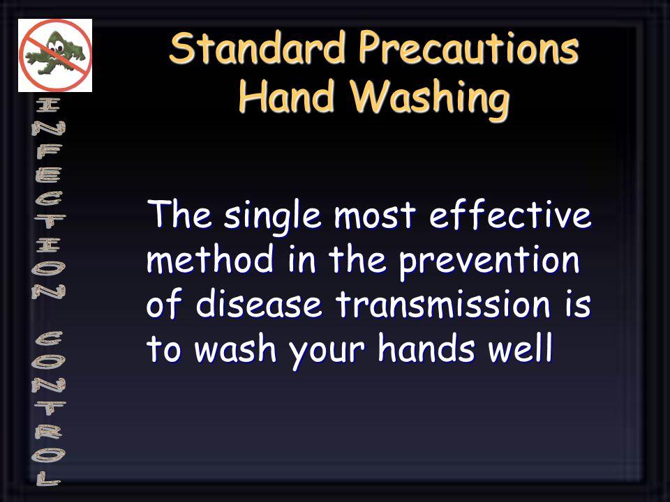 Standard Precautions Hand Washing