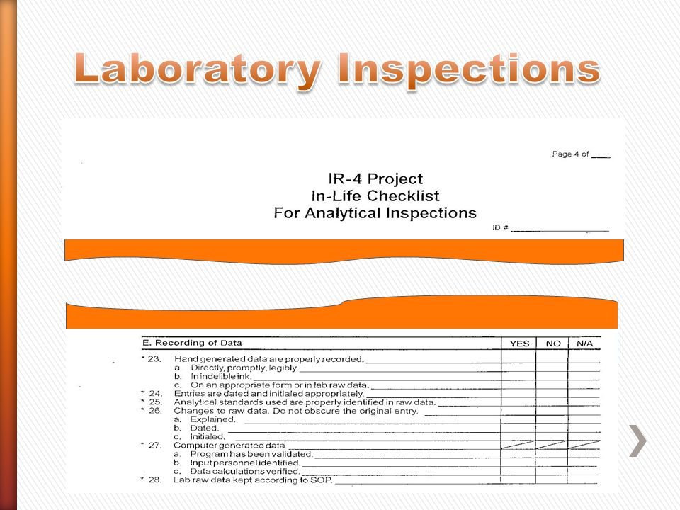 Laboratory Inspections