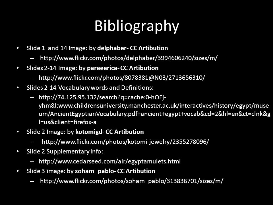 Bibliography Slide 1 and 14 Image: by delphaber- CC Artibution