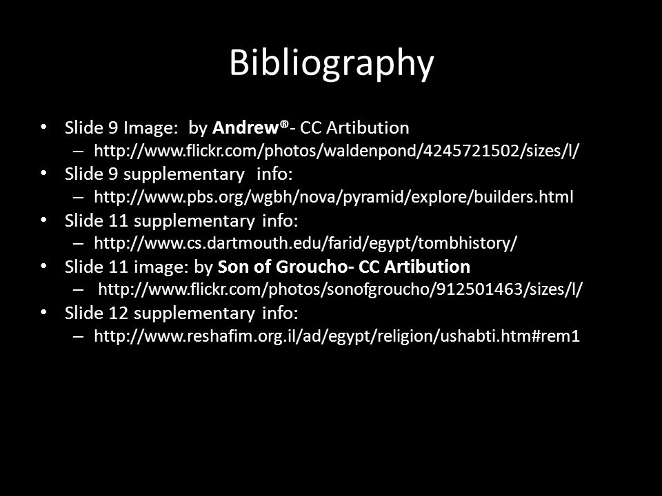 Bibliography Slide 9 Image: by Andrew®- CC Artibution