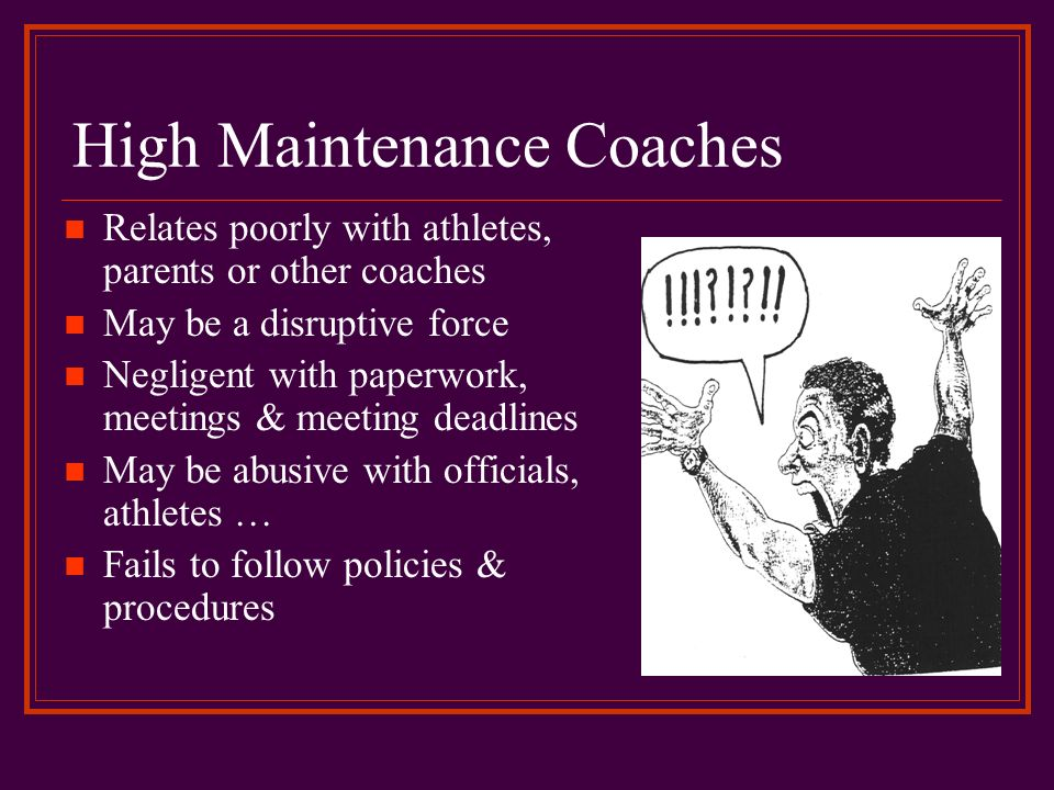 High Maintenance Coaches