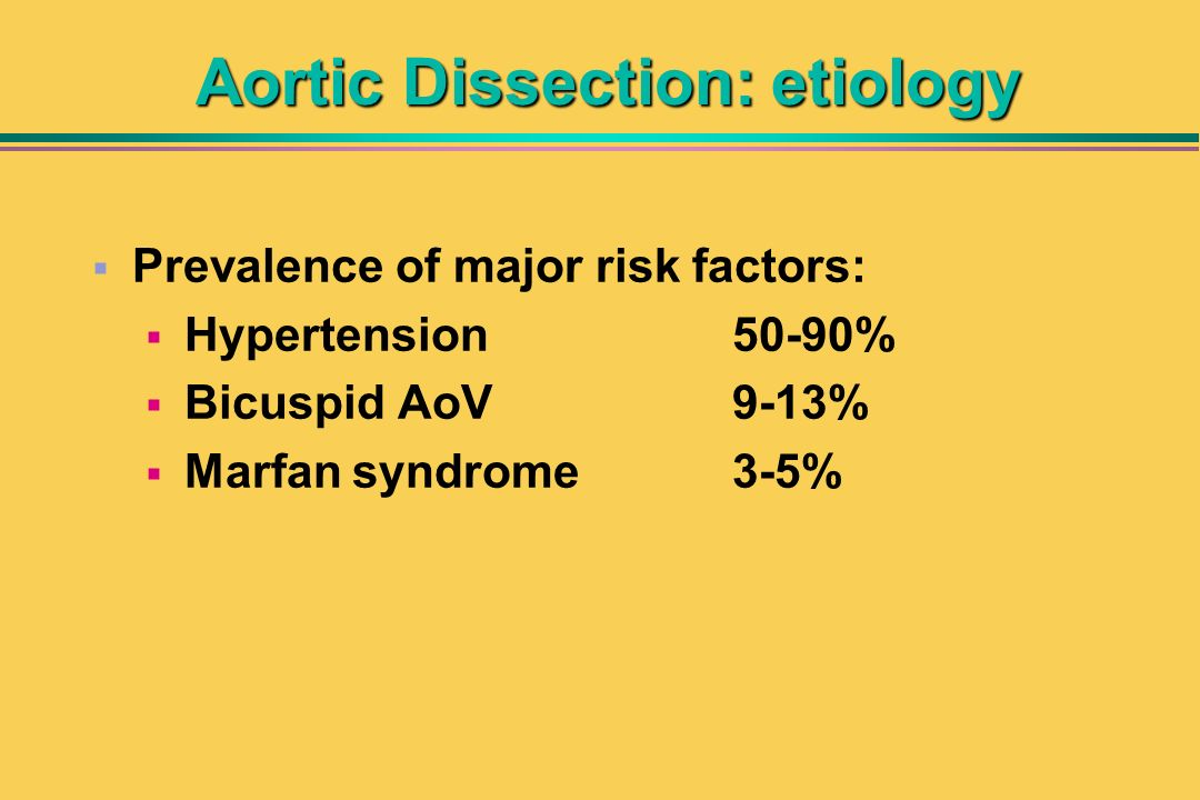 Aortic Dissection: etiology
