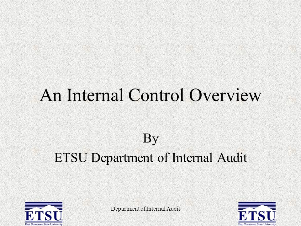 An Internal Control Overview