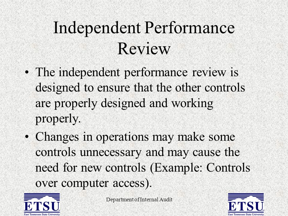 Independent Performance Review