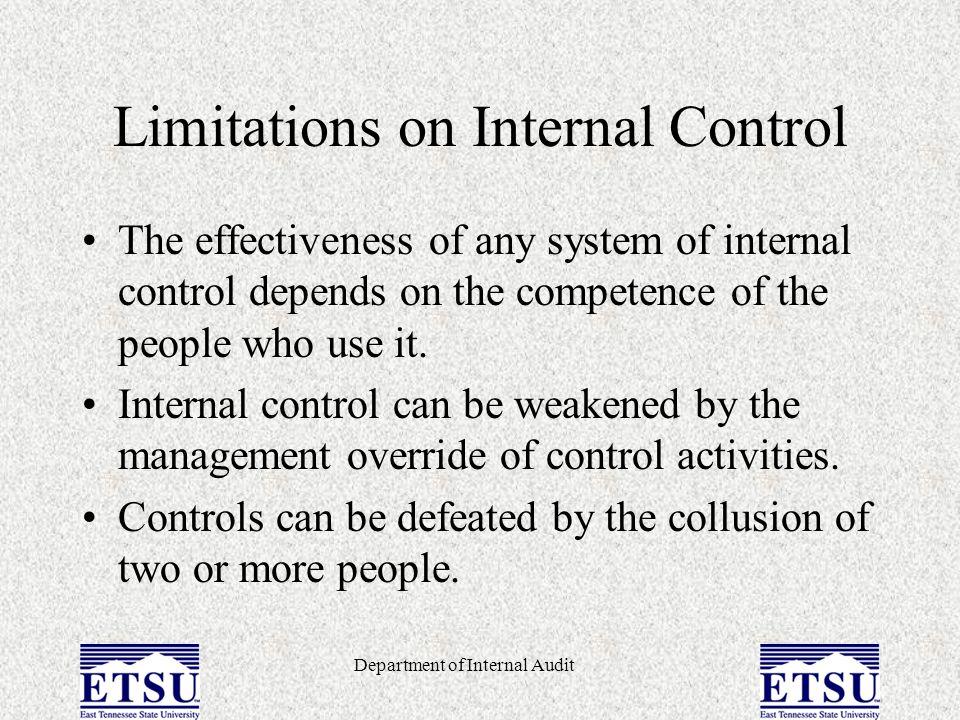 Limitations on Internal Control