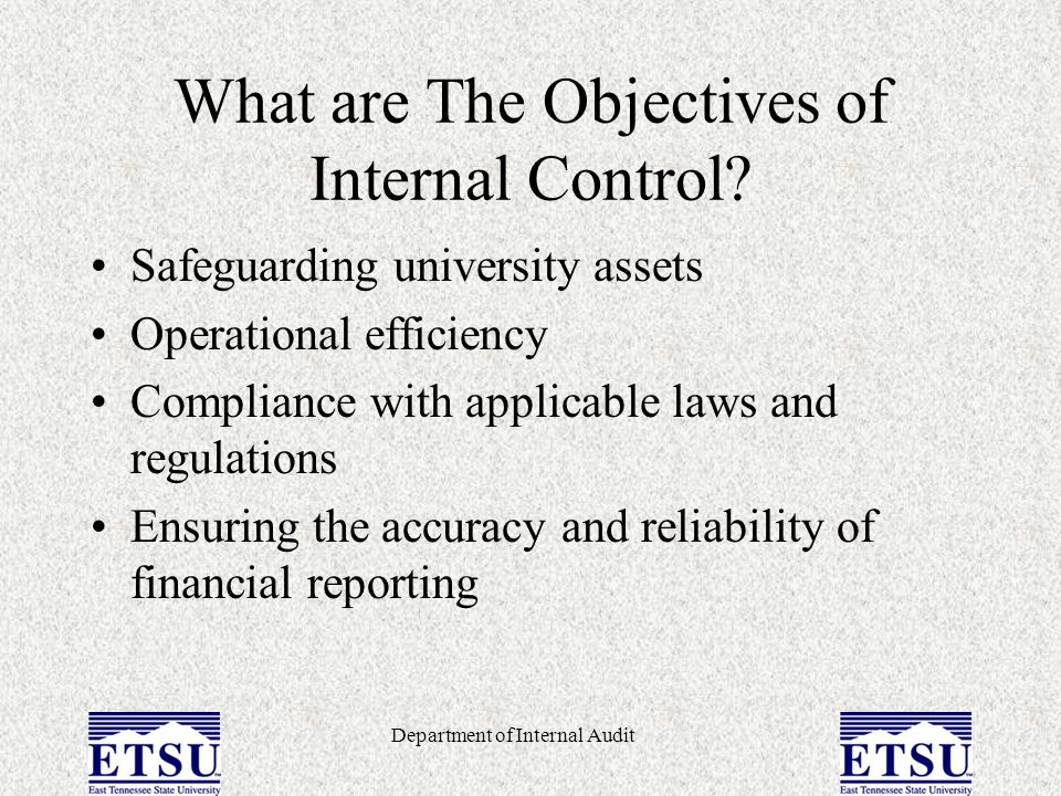 What are The Objectives of Internal Control
