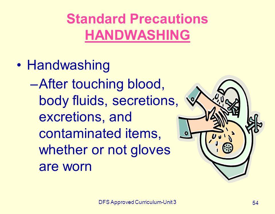 Standard Precautions HANDWASHING