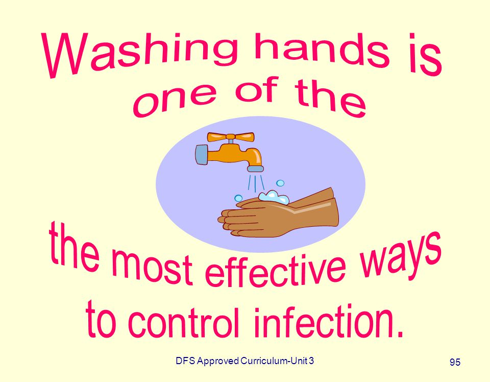 the most effective ways to control infection.