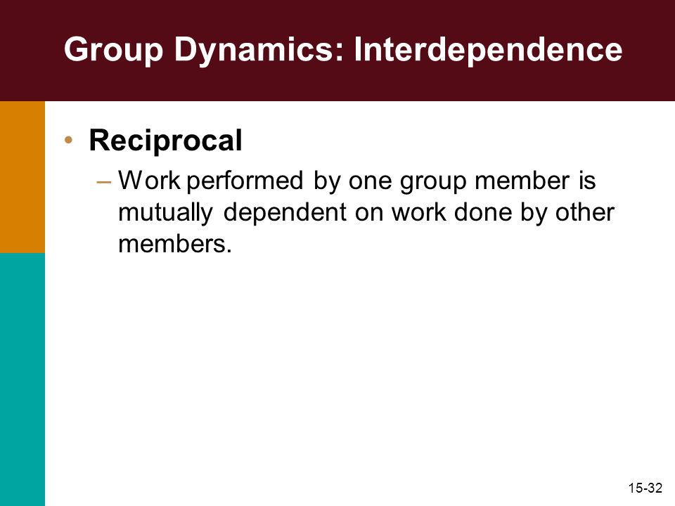 Group Dynamics: Interdependence