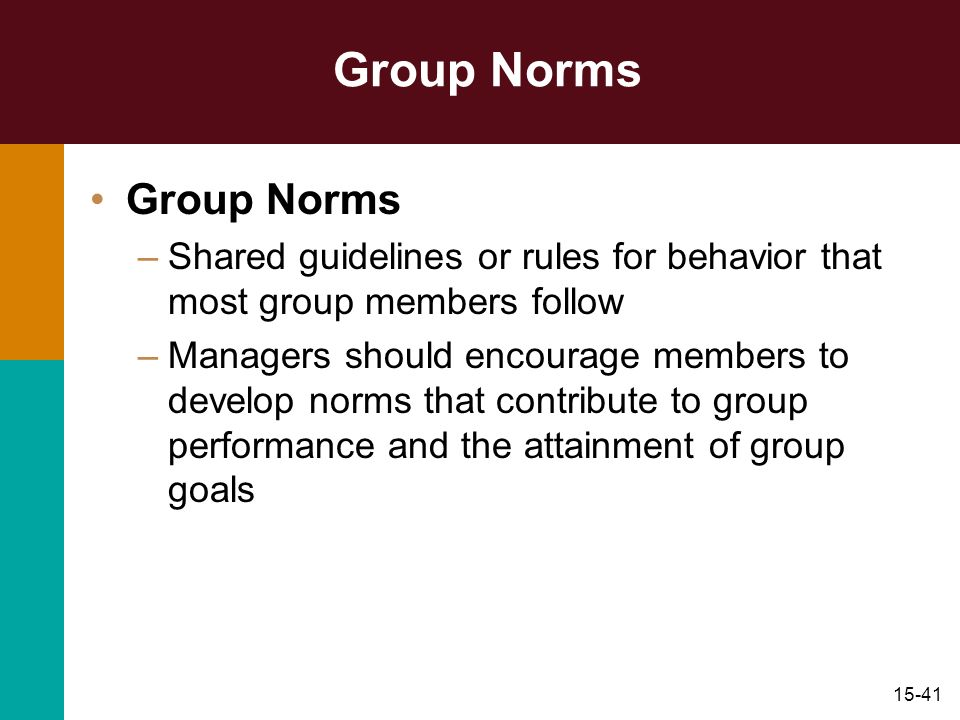 Group Norms Group Norms