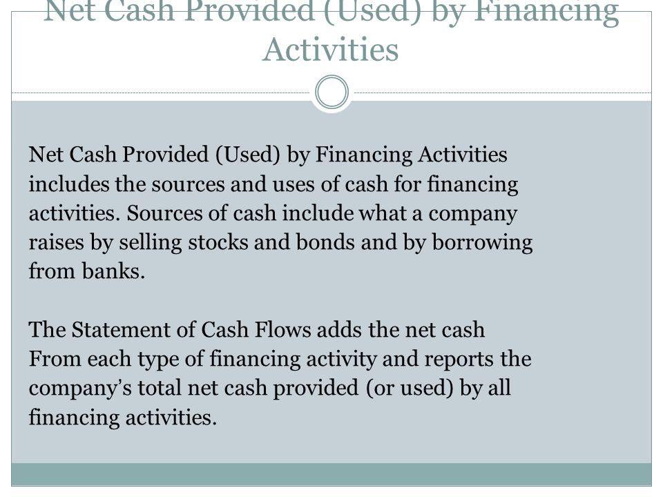 Net Cash Provided (Used) by Financing Activities