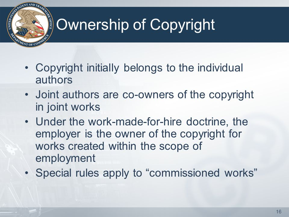 Ownership of Copyright