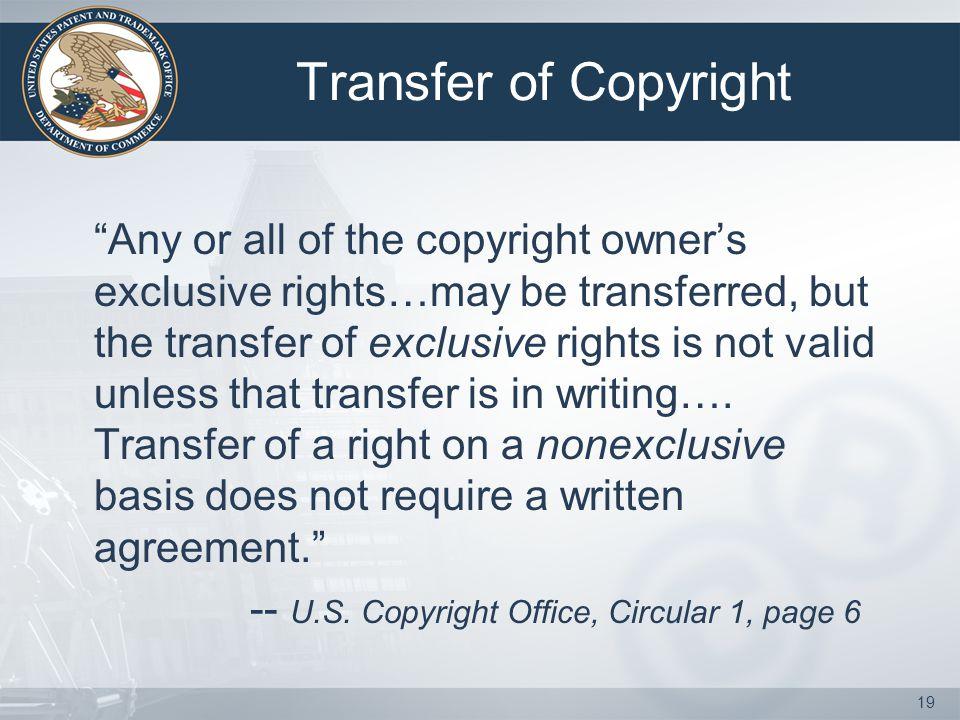 Transfer of Copyright