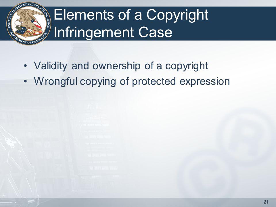 Elements of a Copyright Infringement Case