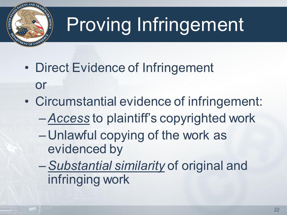 Proving Infringement Direct Evidence of Infringement or
