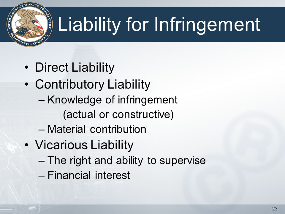 Liability for Infringement