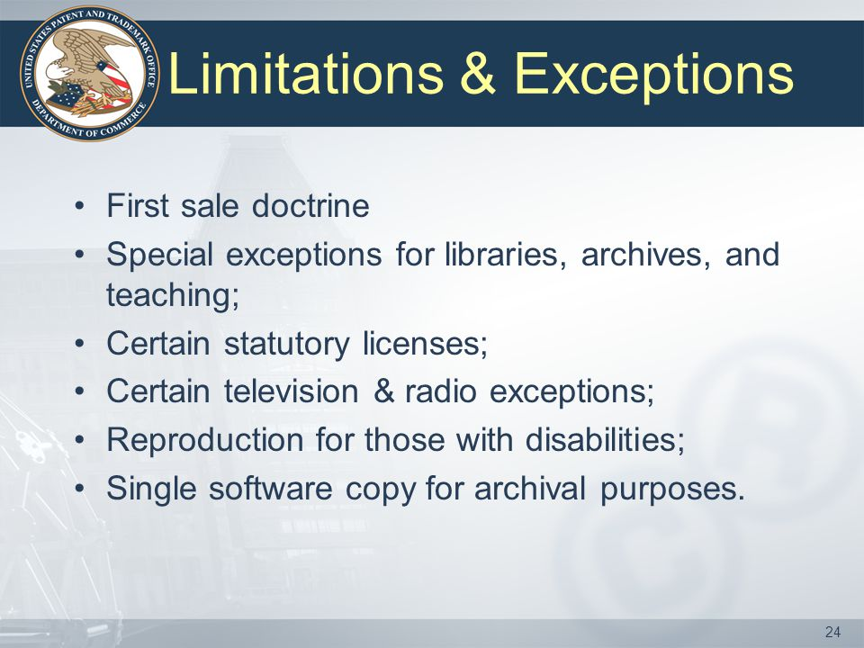 Limitations & Exceptions