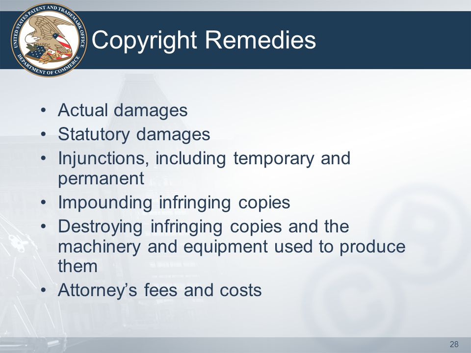 Copyright Remedies Actual damages Statutory damages