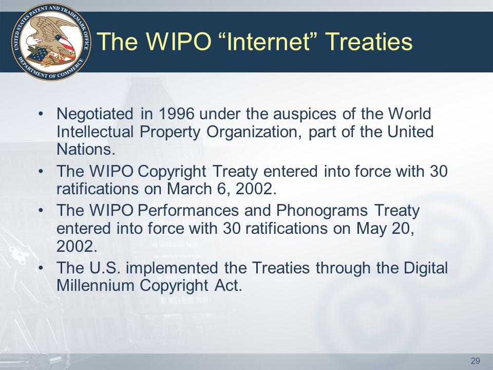 The WIPO Internet Treaties