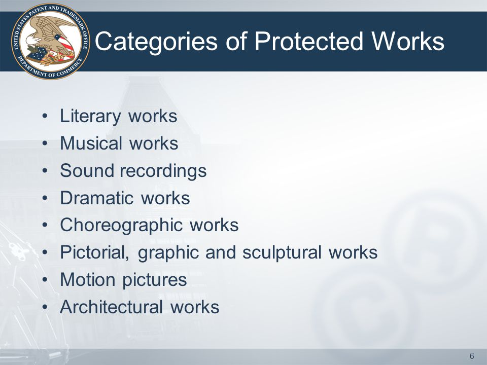 Categories of Protected Works