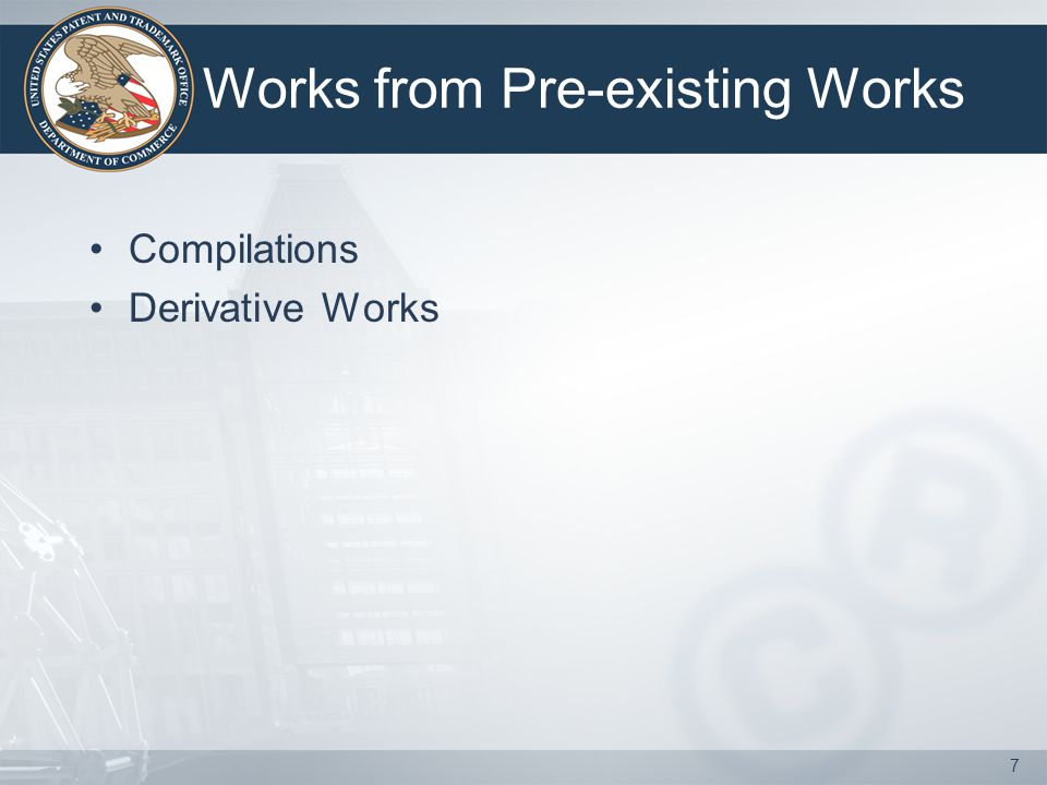 Works from Pre-existing Works