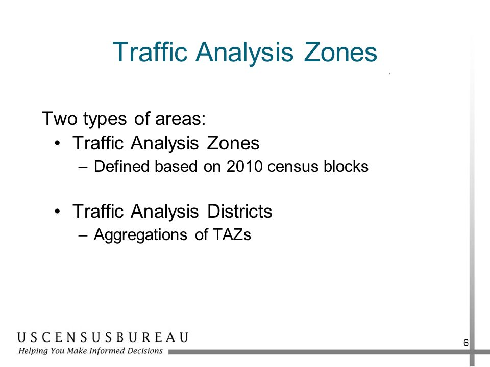 Traffic Analysis Zones