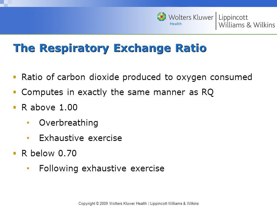 The Respiratory Exchange Ratio