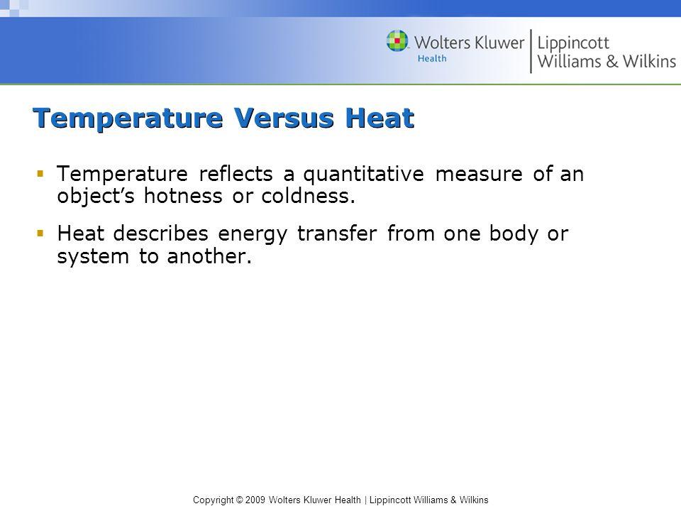 Temperature Versus Heat