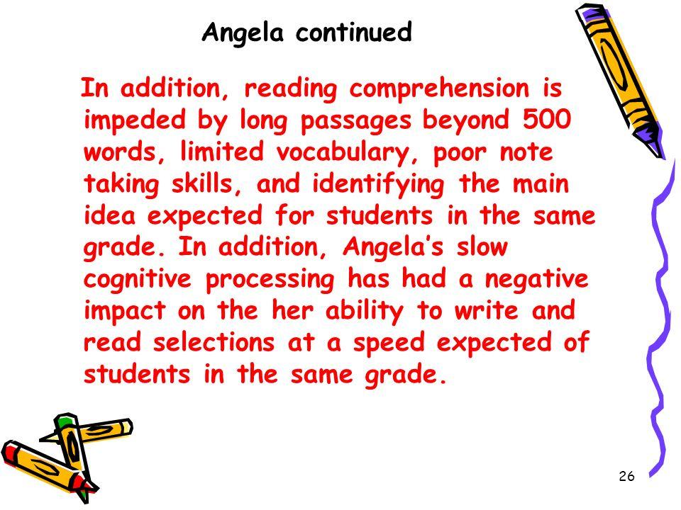 Angela continued