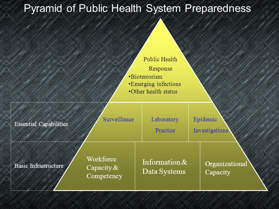 Pyramid of Public Health System Preparedness