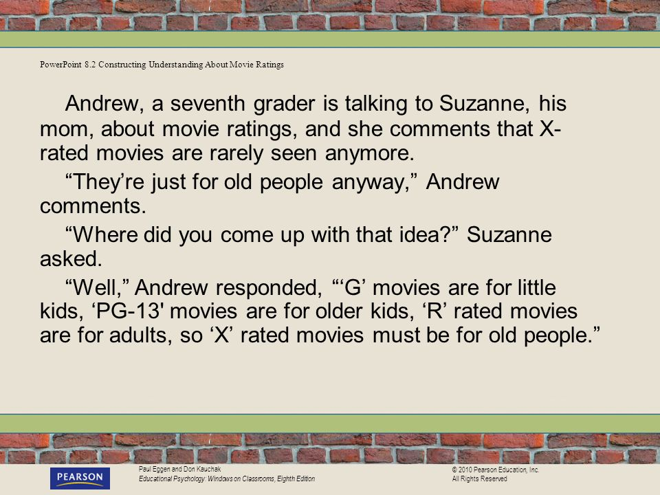 PowerPoint 8.2 Constructing Understanding About Movie Ratings