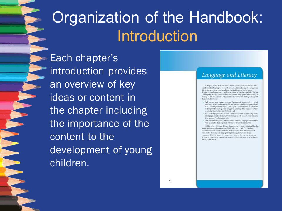 Organization of the Handbook: Introduction