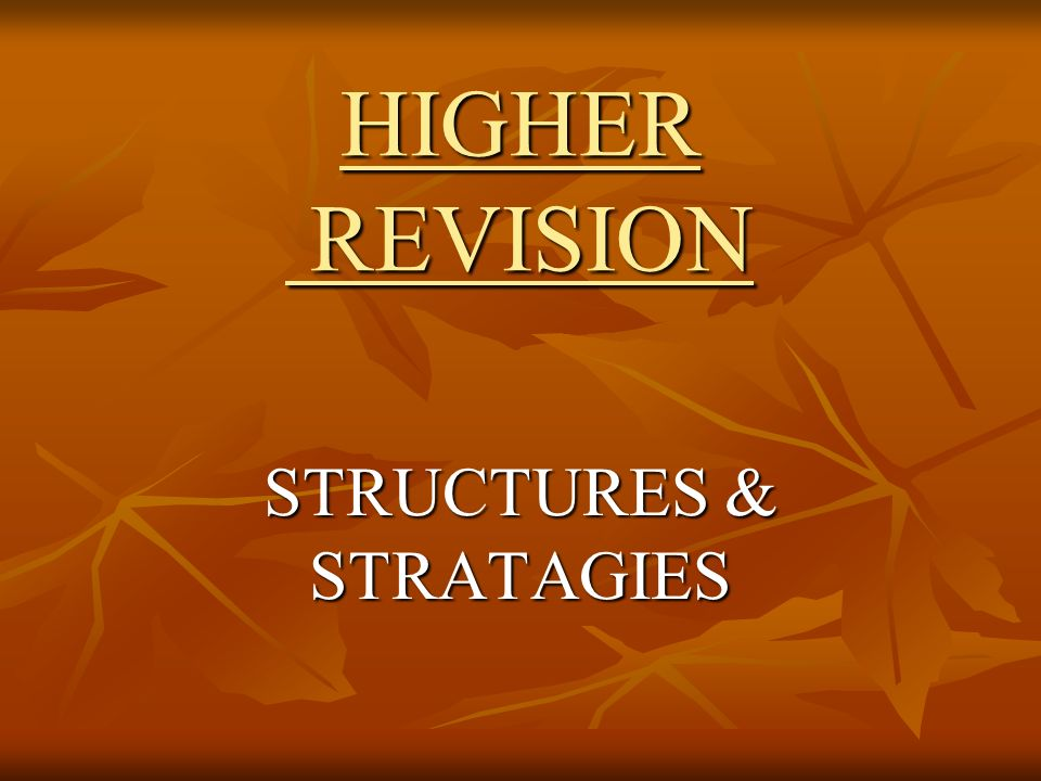 STRUCTURES & STRATAGIES