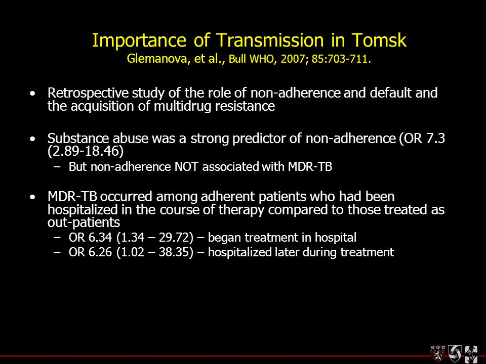 Importance of Transmission in Tomsk Glemanova, et al