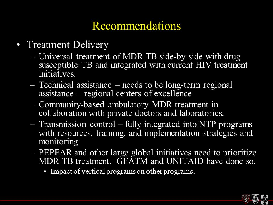 Recommendations Treatment Delivery