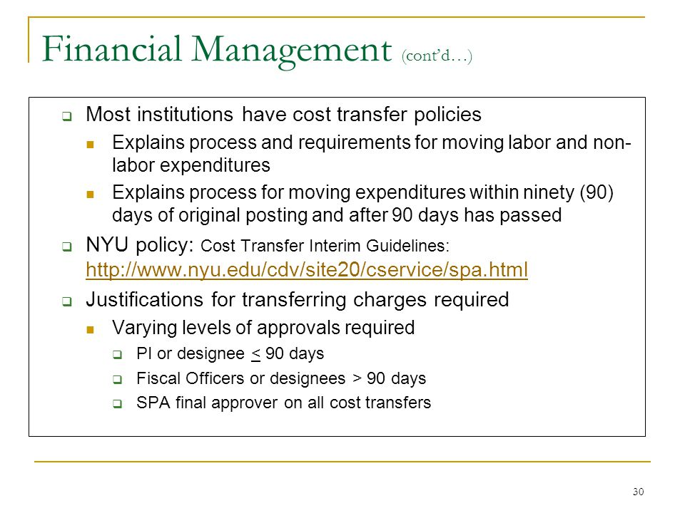 Financial Management (cont'd…)