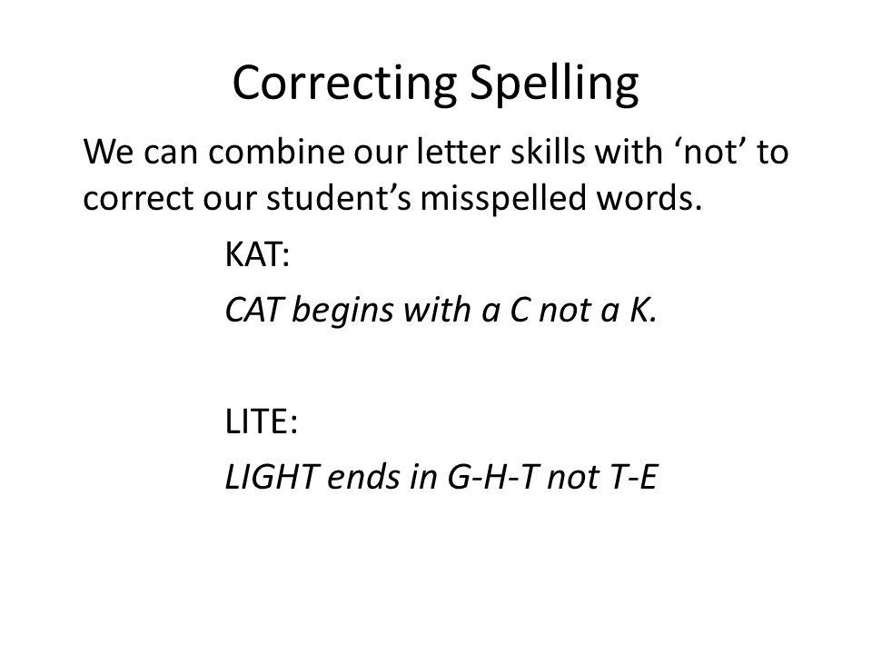 Correcting Spelling