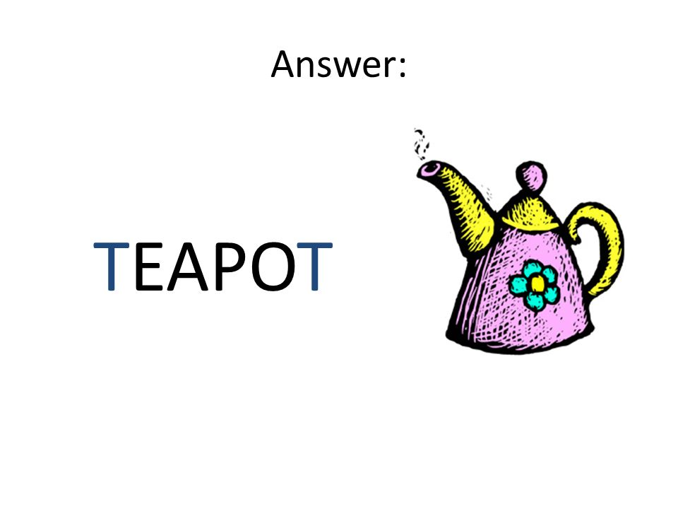 Answer: TEAPOT