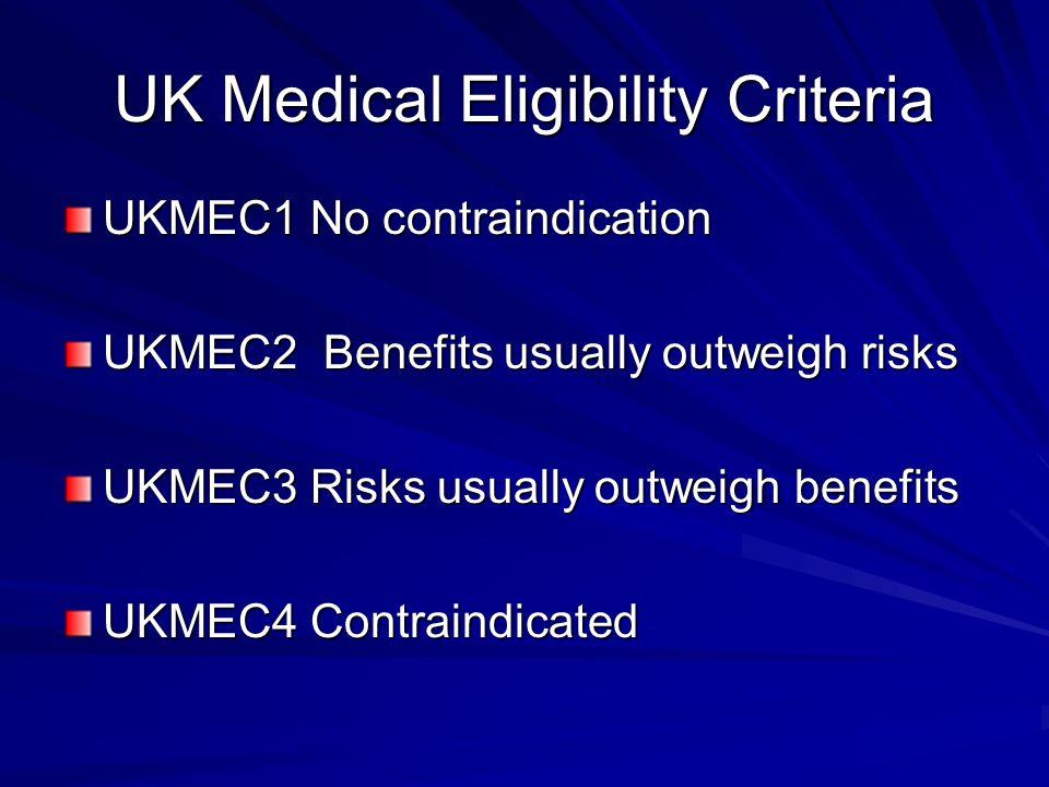 UK Medical Eligibility Criteria
