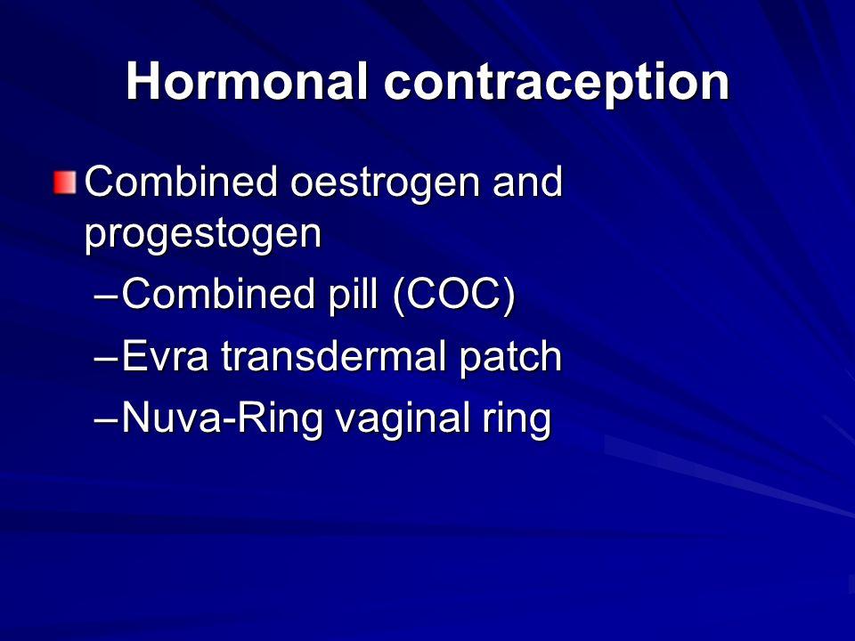 Hormonal contraception