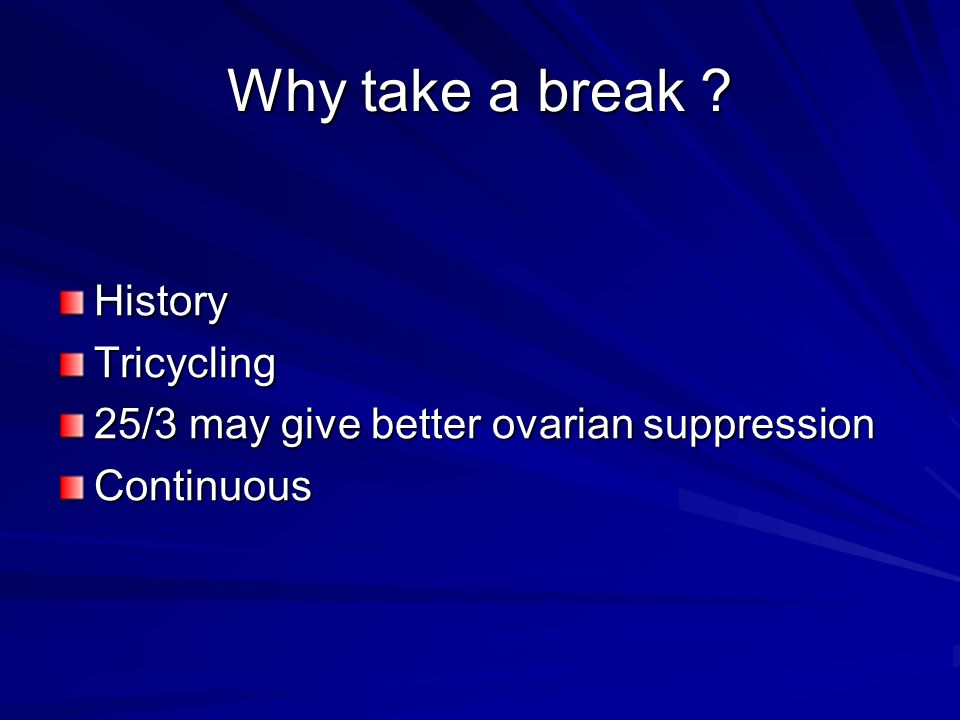 Why take a break History Tricycling