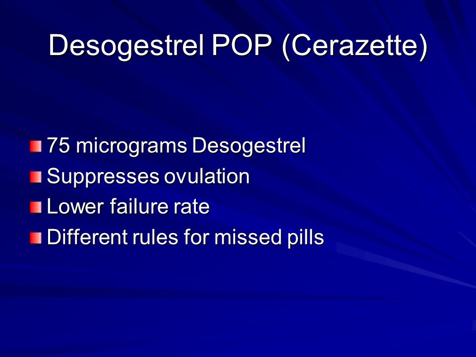 Desogestrel POP (Cerazette)
