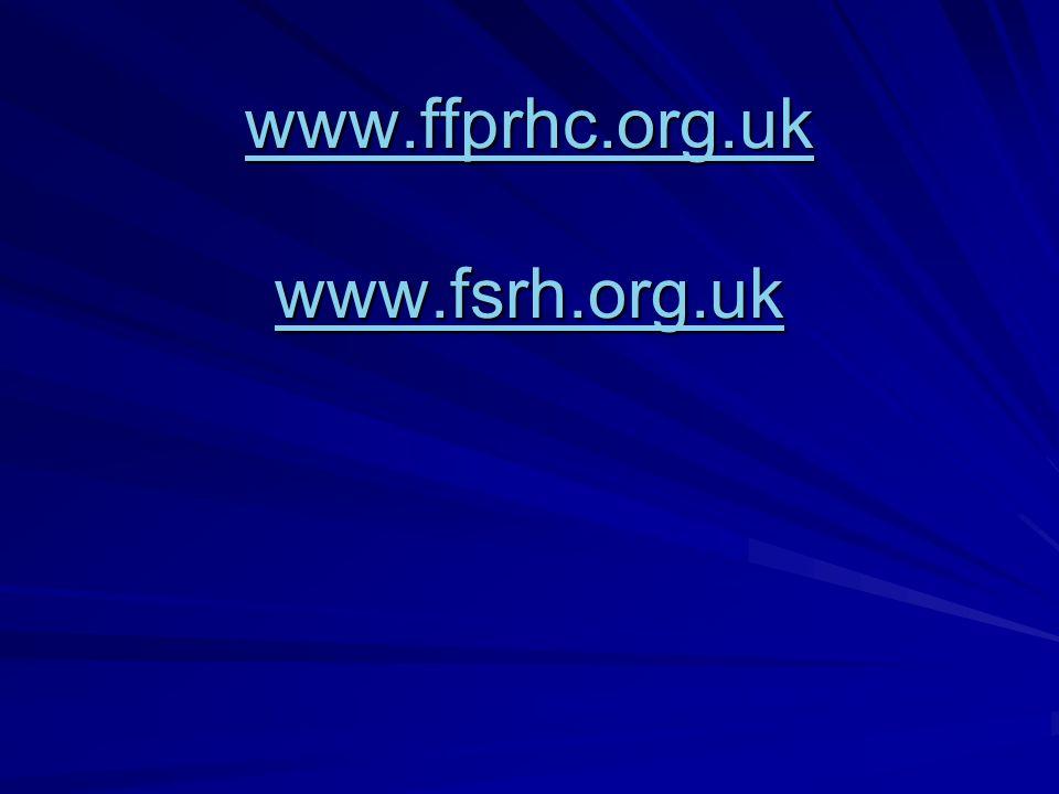 www.ffprhc.org.uk www.fsrh.org.uk