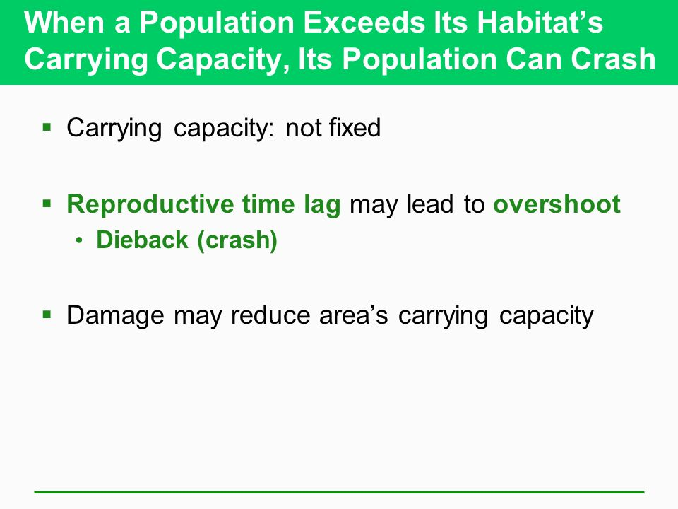 When a Population Exceeds Its Habitat's Carrying Capacity, Its Population Can Crash