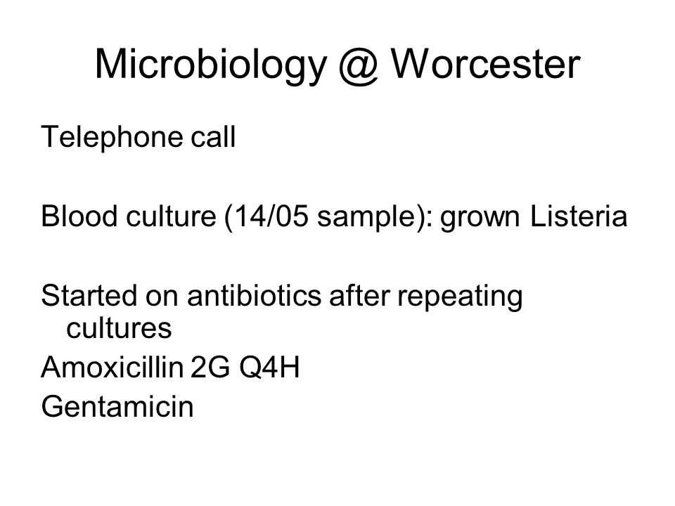 Microbiology @ Worcester