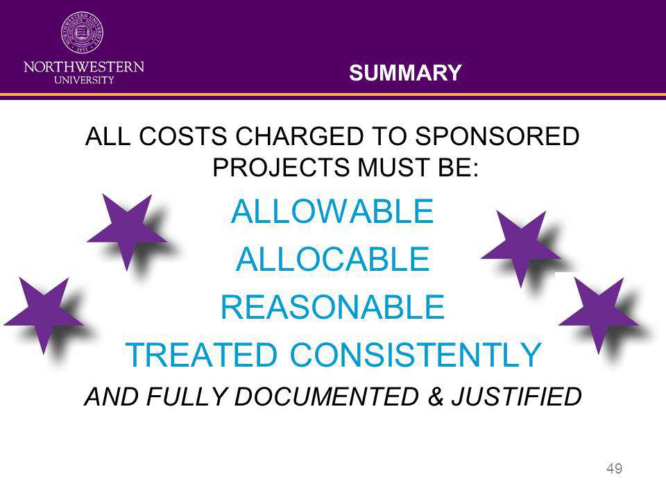 ALLOWABLE ALLOCABLE REASONABLE TREATED CONSISTENTLY